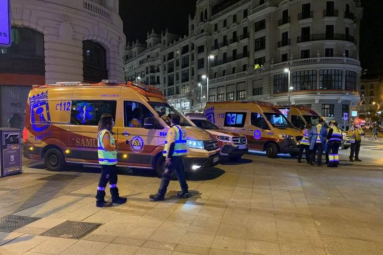 SAMUR-PC confirma al menos 9 heridos en los disturbios de la Puerta del Sol de Madrid tras la manifestación por la libertad de Pablo Hasél