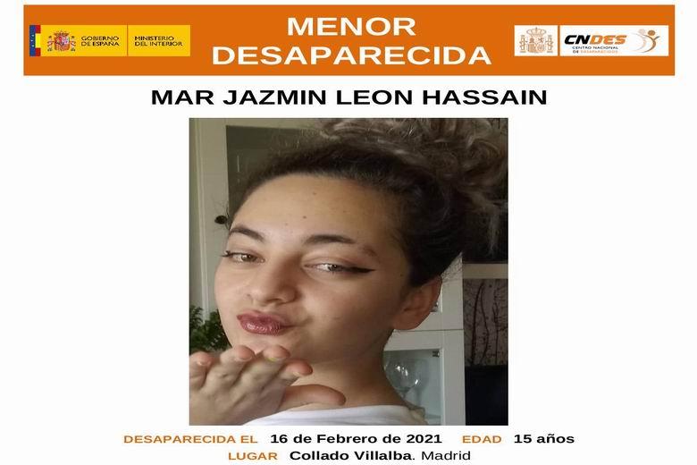 Desaparecida una menor de 15 años en Collado Villalba