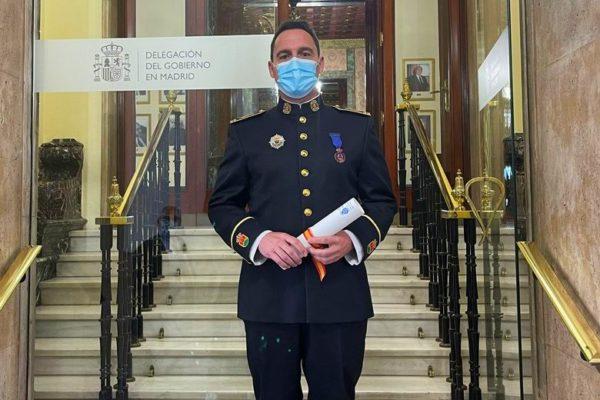 alcorcon Medalla bronce proteccion civil Raul Esteban jefe bomberos