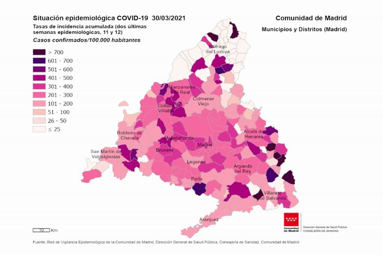 Pinto suma 81 casos de coronavirus COVID-19 y su tasa de incidencia se sitúa en 154,21