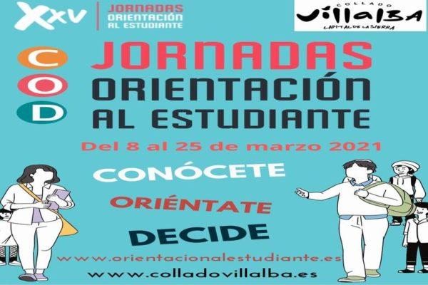 collado villalba cartel 25 Jornadas Orientación Estudiante