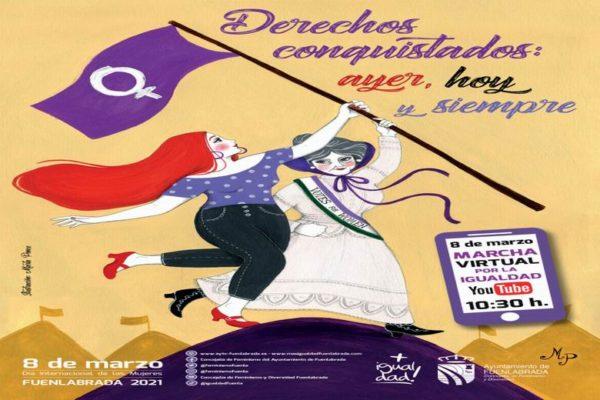fuenlabrada marcha por la igualdad 8 de marzo virtual
