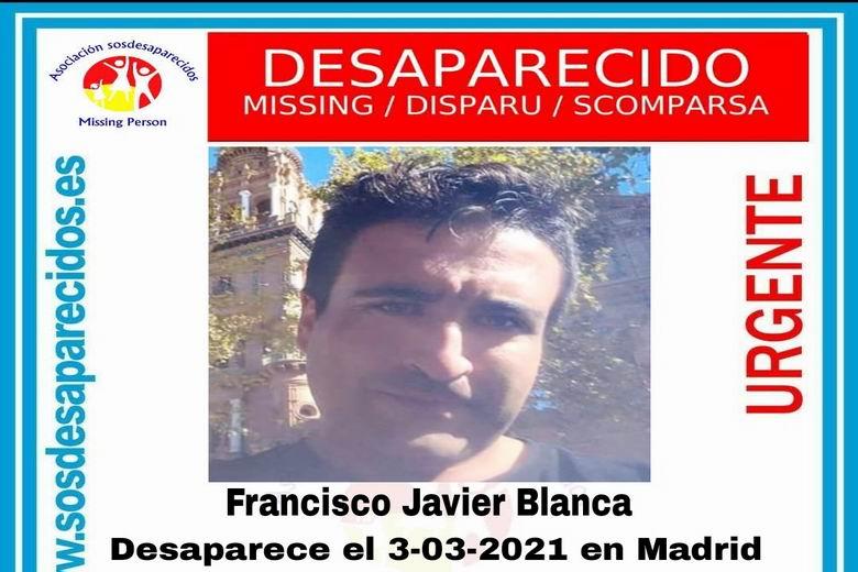 SOS Desaparecidos busca a un hombre de 36 años desaparecido en Madrid