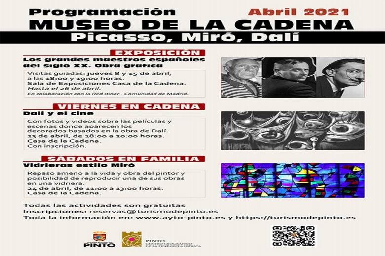 Pinto contará con una exposición sobre Picasso, Miró y Dalí en el Museo de la Casa de la Cadena