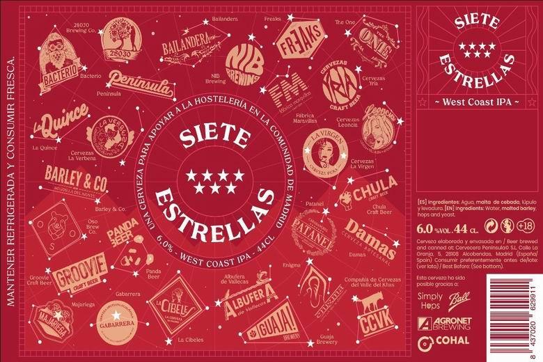 27 cerveceras artesanas de Madrid unen fuerzas para elaborar 5.000 litros de cerveza IPA en beneficio de la hostelería de la región