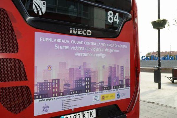 fuenlabrada nueva campaña contra la violencia de genero autobuses