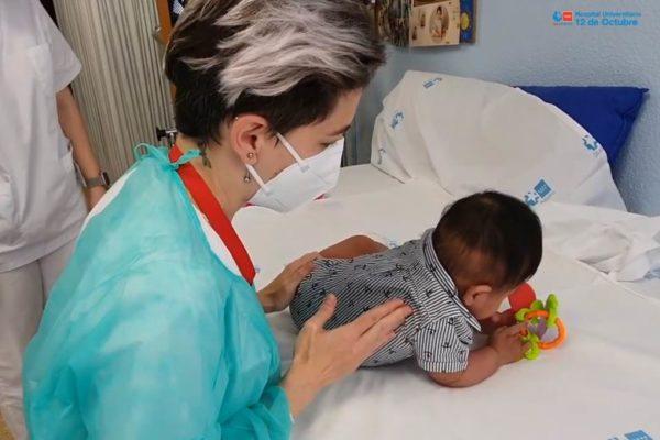 hospital 12 octubre trombo bebe 2 meses extraccion con exito