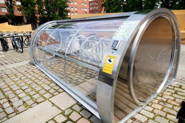 tres cantos aparcamiento automatizado de bicis
