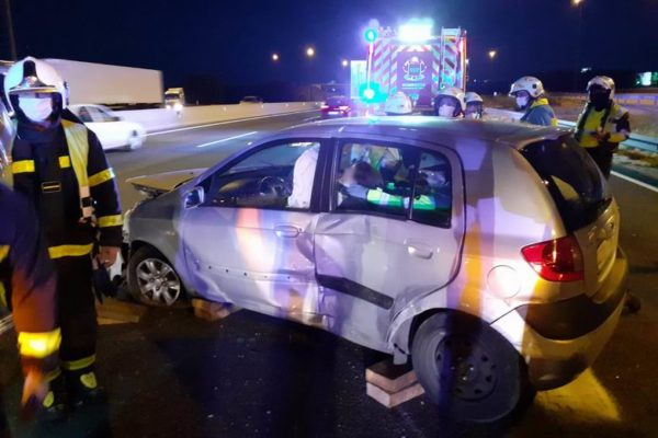 getafe a4 accidente turismo furgoneta 02