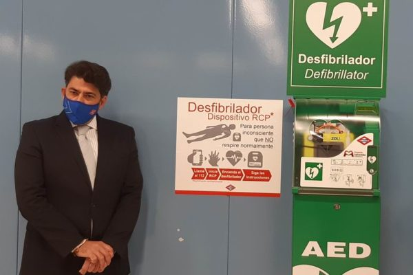metro madrid desfibriladores