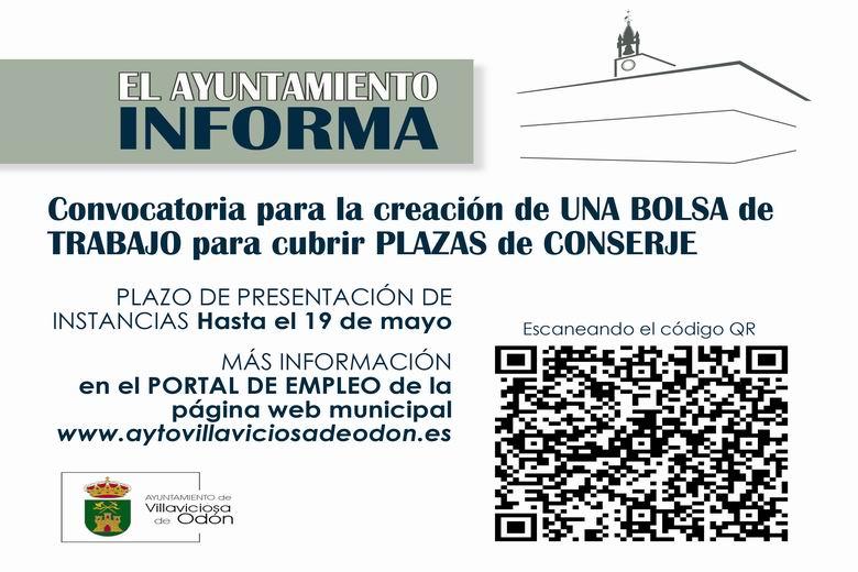 Villaviciosa abre una convocatoria para la creación de una bolsa de trabajo para cubrir plazas de conserje