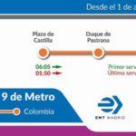 madrid emt autobus especial obras metro plaza castilla colombia