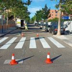 paracuellos pintura pasos de peatones