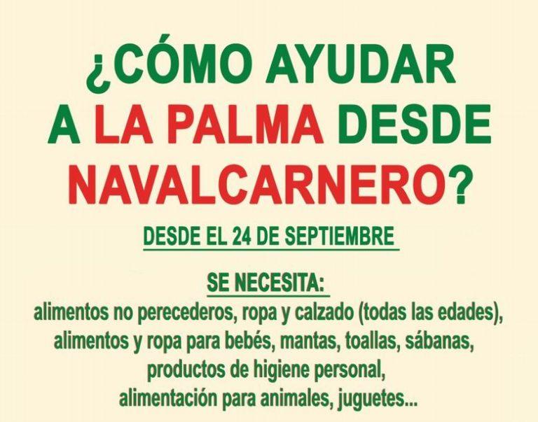 Navalcarnero pone en marcha una campaña de ayuda a los habitantes de La Palma tras la erupción volcánica