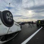 accidente m607 m40 direccion a1 turismo salida de via 02